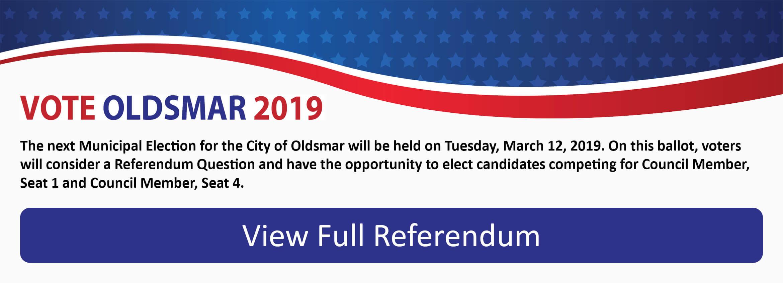 Vote Oldsmar 2019
